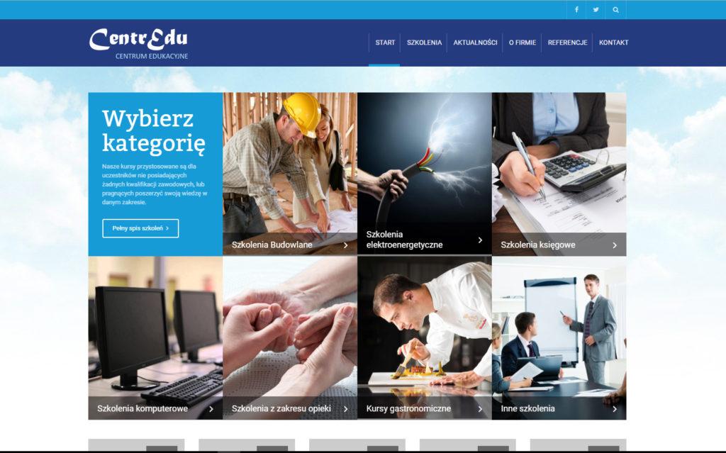 Strona www Centrum Edukacyjne