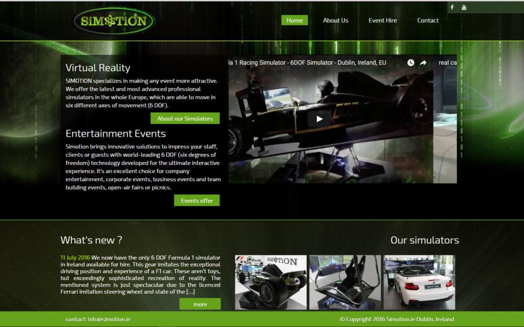 Projekt strony www Simotion