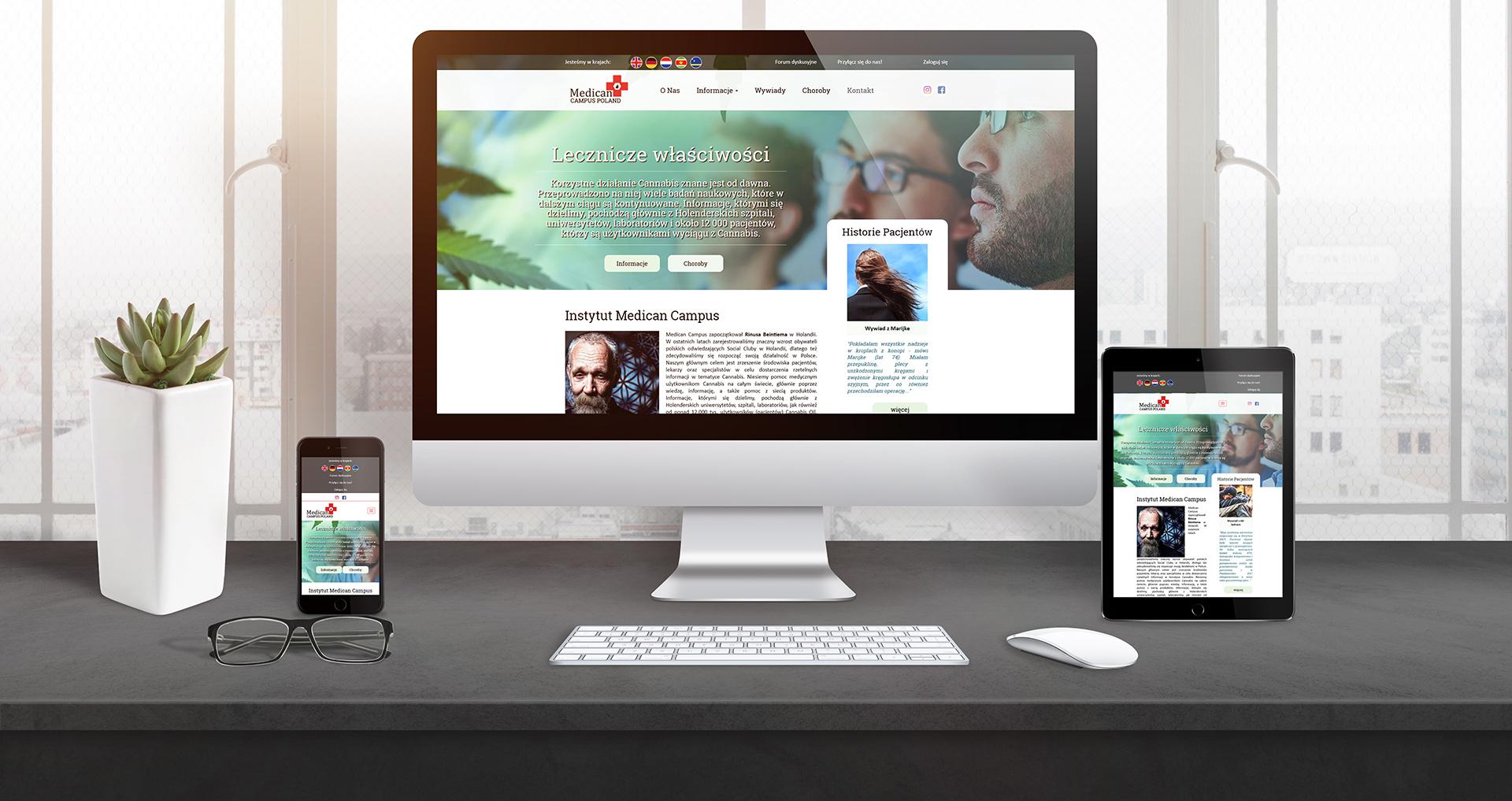 Responsywna strona www - Medican Campus