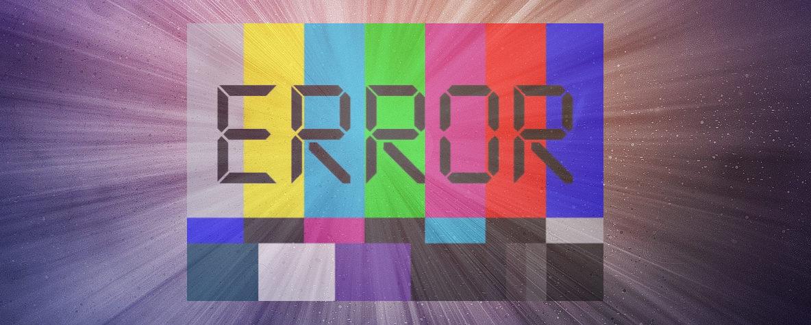 Błędy na stronach internetowych