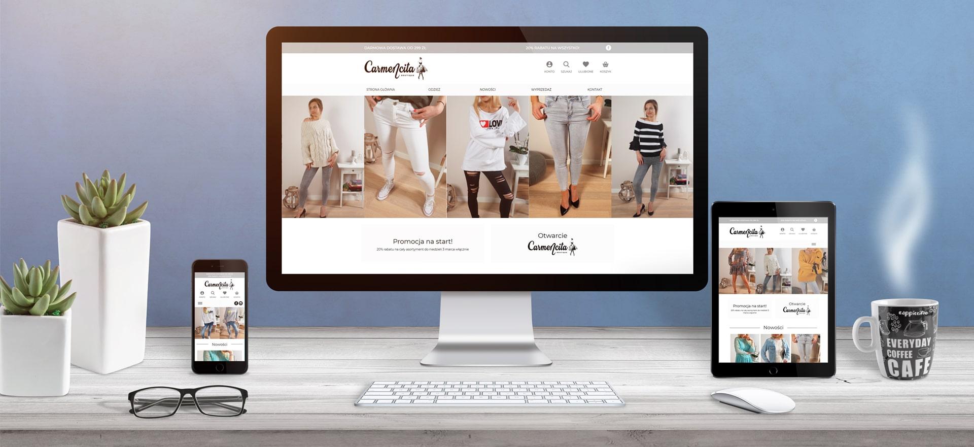 Sklep internetowy z odzieżą włoską Carmencita