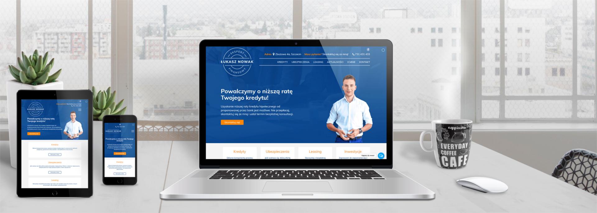 Strona internetowa dla eksperta finansowego Łukasza Nowaka