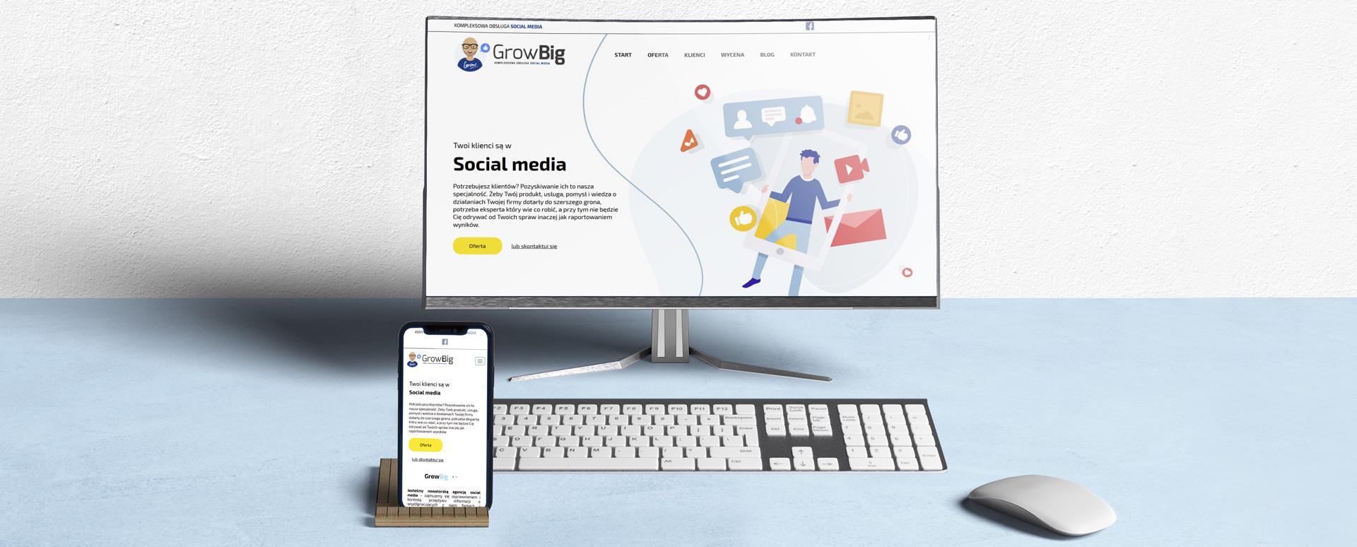 Strona internetowa dla Agencji Social Media