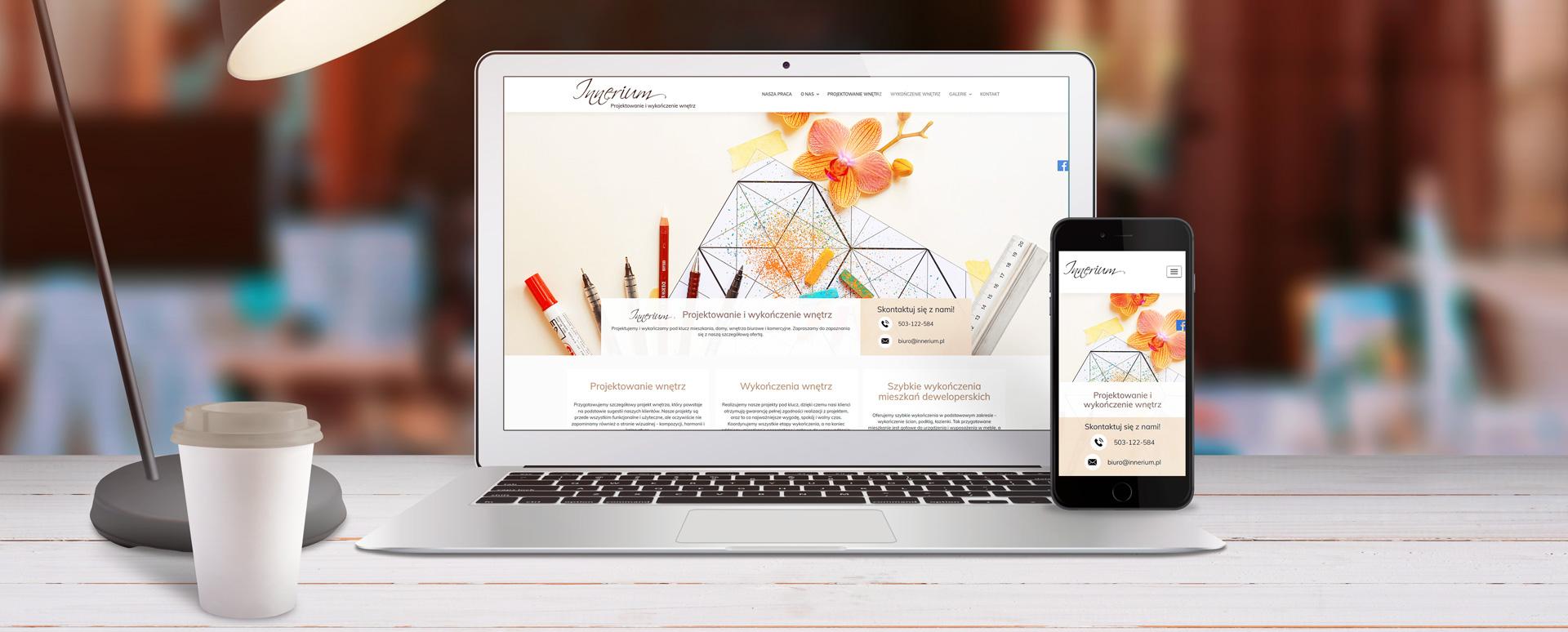 Strona internetowa dla biura projektowania wnętrz w Szczecinie
