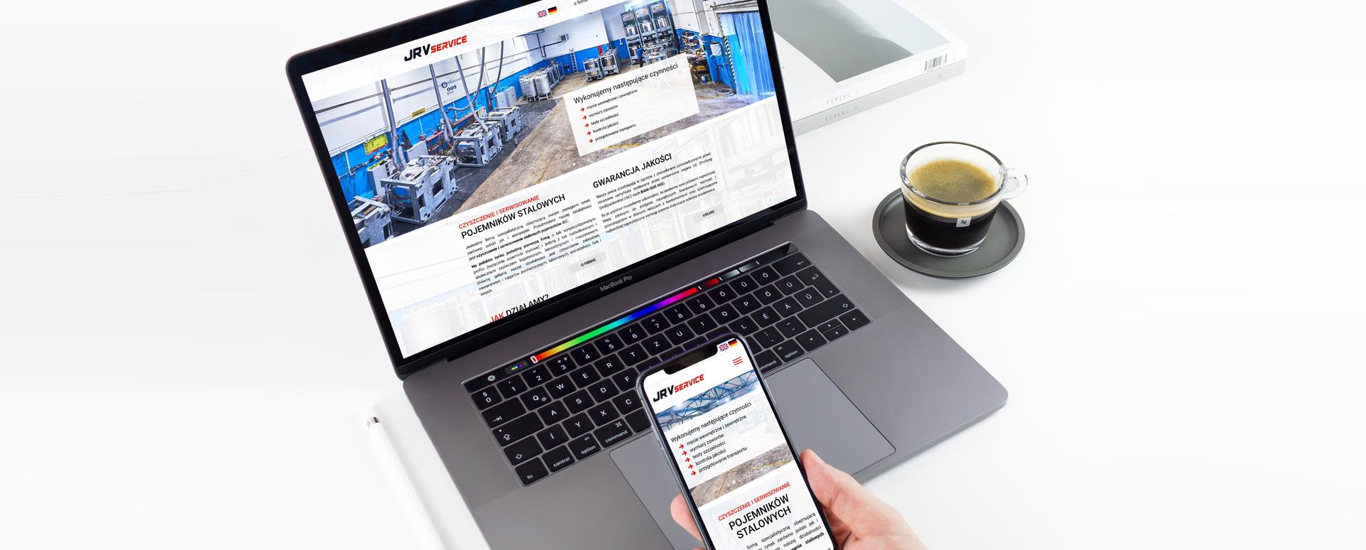 Zaprojektowanie strony internetowej dla JRV Service