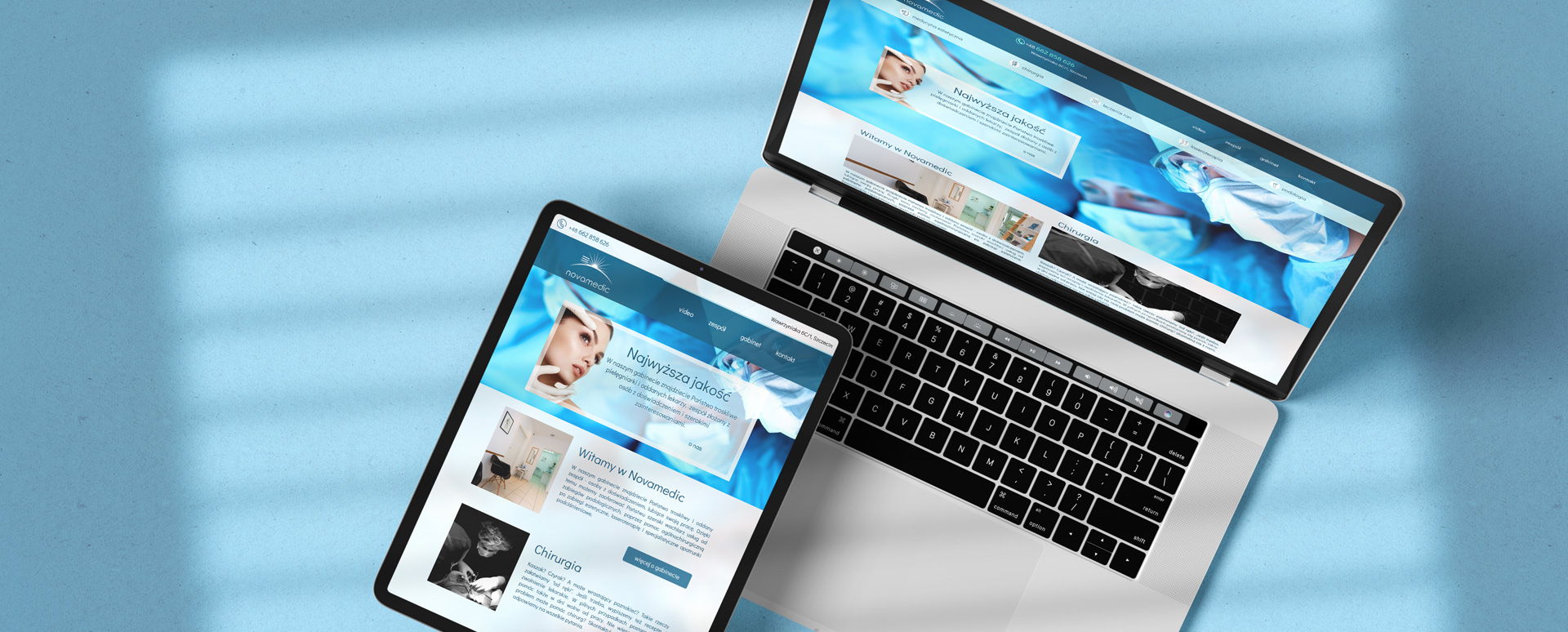 Strona www dla gabinetu medycznego Novamedic