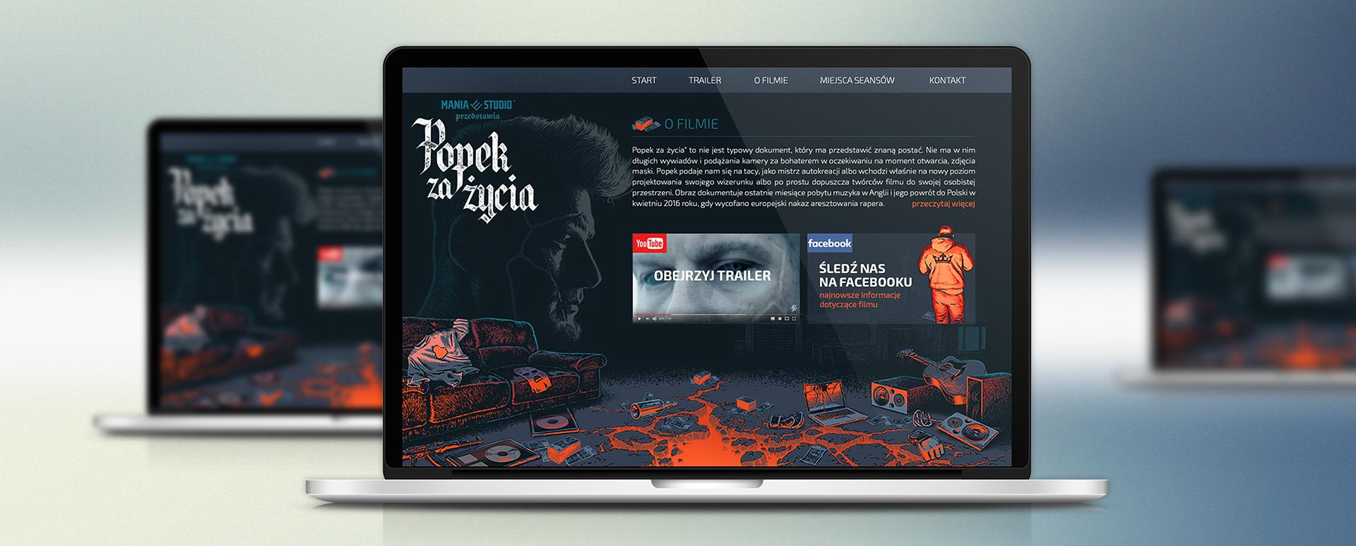 Strona internetowa filmu Popek Za Życia