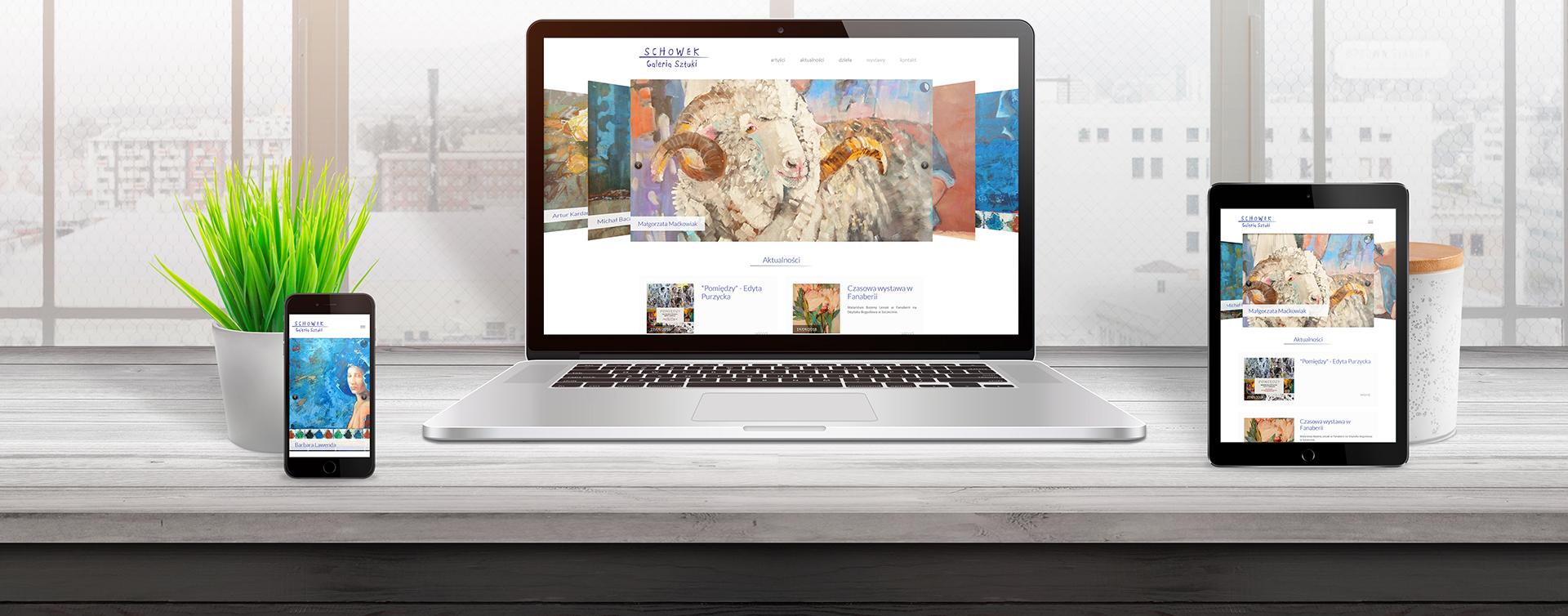 Strona internetowa z katalogiem produktów