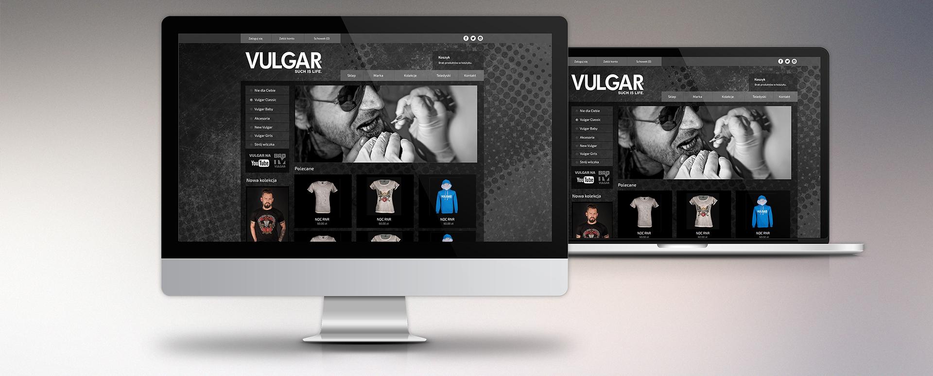 Sklep internetowy z odzieżą marki Vulgar